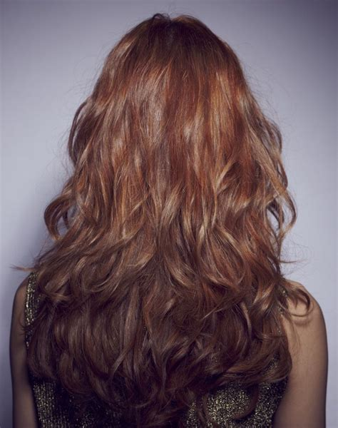 back view of layered curly shoulder length long layered wavy hair back view related post from long