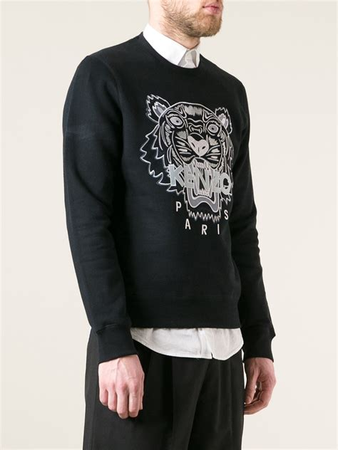 Kenzo Sweater Import 1 lyst kenzo brody sweater in black for