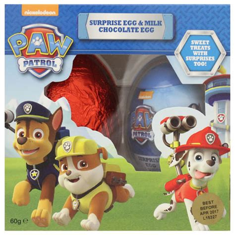 Paw Patrol Eggs Isi 4 buy paw patrol easter eggs egg single 60g at countdown co nz