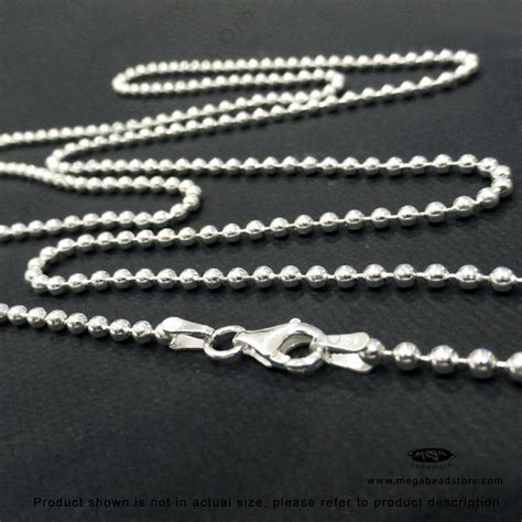 sterling silver bead chain 2 2mm sterling silver bead chain finished 30 in