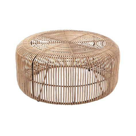 rattan coffee table by out there interiors