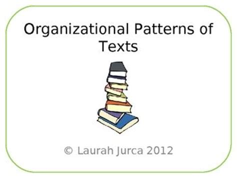patterns of organization in reading powerpoint organizational patterns of texts powerpoint presentation