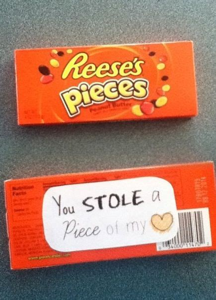 boyfriend puns reese s pieces candy pun you stole a piece of my heart