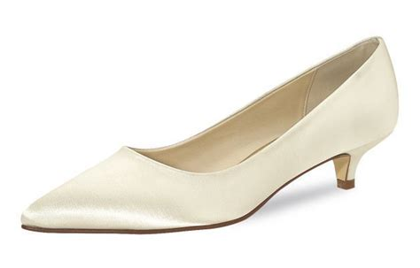 brautschuh quot quot satin ivory auslaufmodell