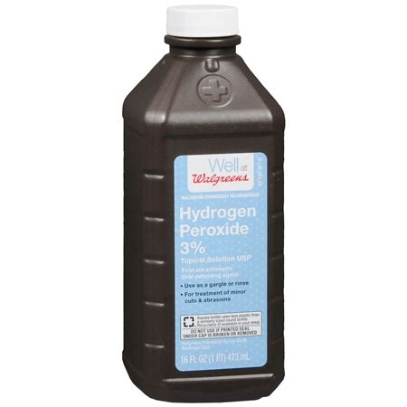Hidrogen Peroksid walgreens hydrogen peroxide 3 aid antiseptic