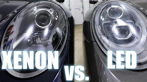xenon lights vs led xenon vs led porsche pdls headlights also halogen