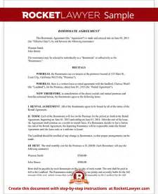 roommate agreement template free form with sample