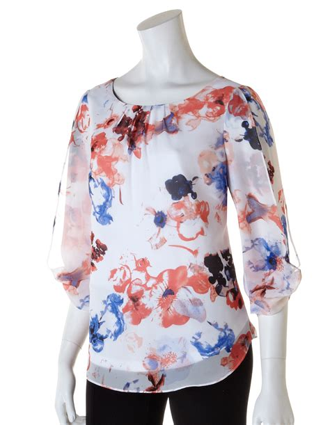 Floral Sleeve Chiffon Blouse floral butterfly sleeve chiffon blouse cleo