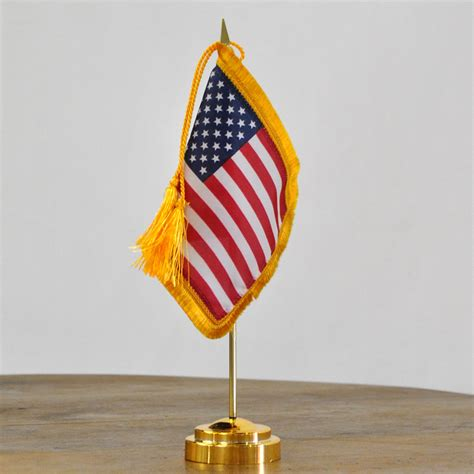 envoy us miniature flag desk set