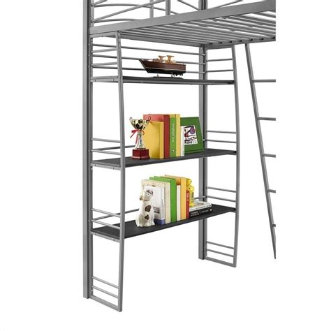 bunk bed with desk and bookcase loft bunk bed desk and bookcase in gray 4016427