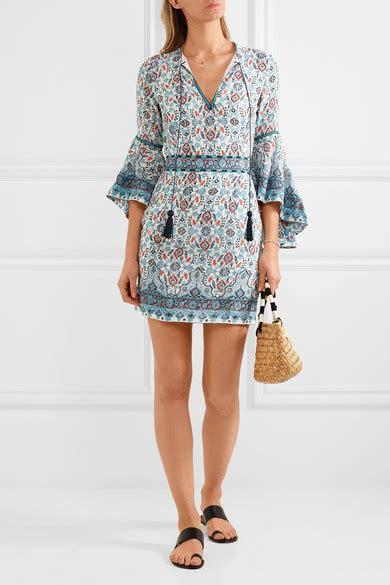 Talinta Dres talitha embroidered silk georgette mini dress net a