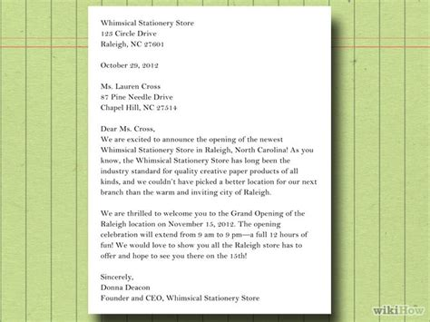 Business Letter Writing Steps How To Write A Business Letter To Customers With Sle Letters
