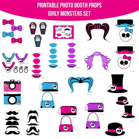 monster high printable photo booth props girly monsters monster high printable photo by