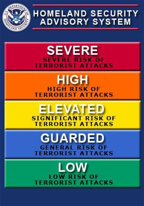 terror alert colors color coded threat level advisory attack wired