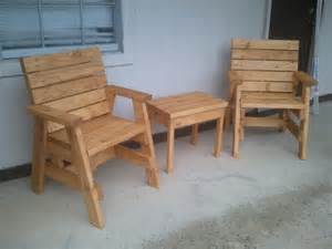 Table Arm Chair Design Ideas How To Build 2 Outdoor Arm Chairs And A Side Table Jays