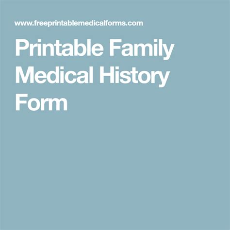 printable family medical history tree printable family medical history form products i love