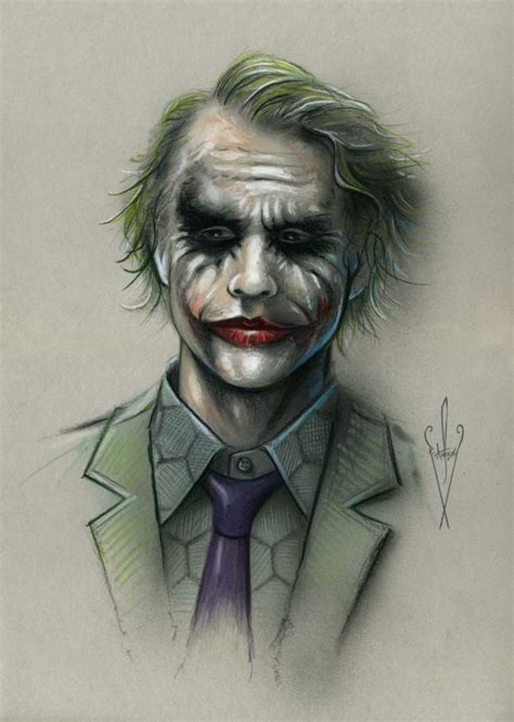Drawing Joker by Joker Drawing 12 X 18 Quot Heath Ledger Batman The