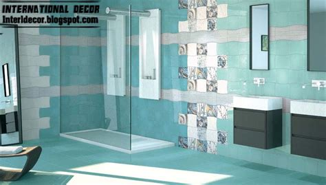 bathroom designs and tiles contemporary turquoise bathroom tile designs ideas