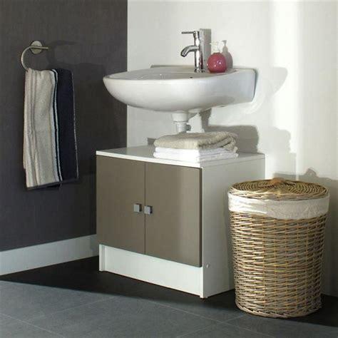 sous meuble lavabo galet meuble sous lavabo 60cm blanc taupe achat vente meuble vasque plan galet meuble sous