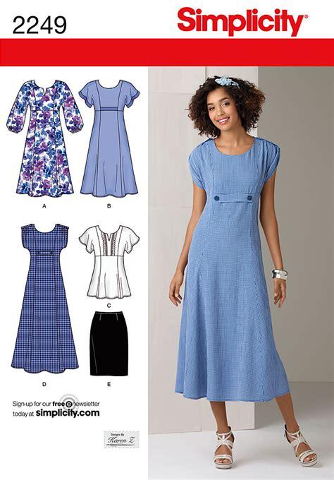 pattern for a dress simple simplicity 2249 misses plus size dresses