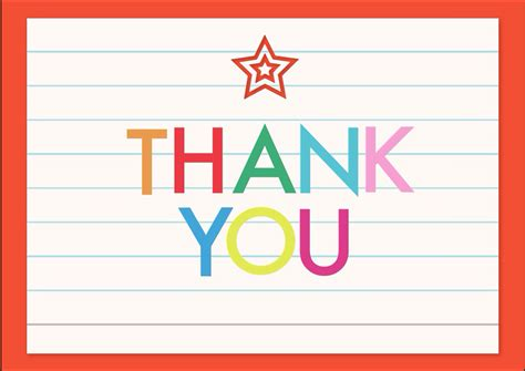free thank you card template from students 7 ways to celebrate appreciation week sf