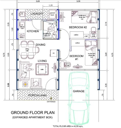 floor plan of bungalow house in philippines tiny apartment design plans interior design ideas for