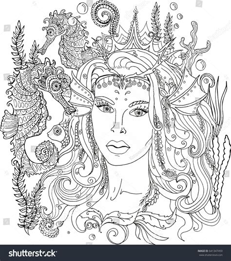Mermaid Coloring Pages For Adults by Coloring Pages Mermaid Collection Free Coloring Books