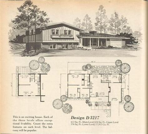 tri level house plans 1970s vintage house plans vintage houses and 1970s on pinterest