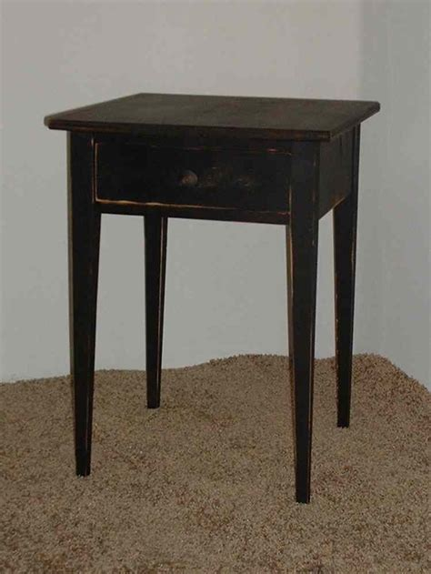Cottage Style End Tables by Handmade Primitive Shaker End Table Color Choice