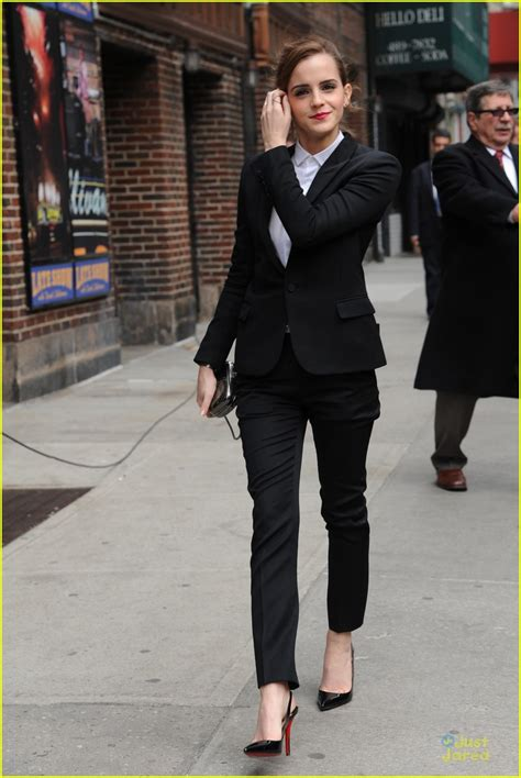 emma watson in suit full sized photo of emma watson suit late show with david