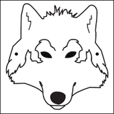 printable wolf mask black and white wolf face coloring pages