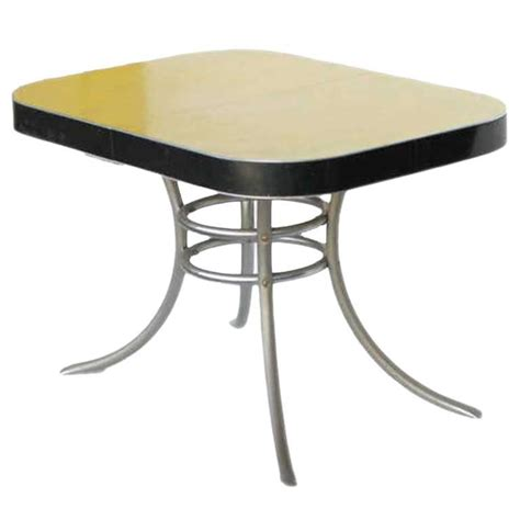 Formica Kitchen Tables Mid Century Formica Kitchen Table With Chrome Legs Saturday Sale For Sale At 1stdibs