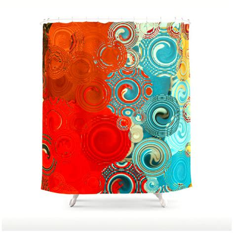 red and turquoise curtains items similar to turquoise and red swirls shower curtain