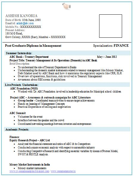 resume template for mba graduates idea of student resume examples