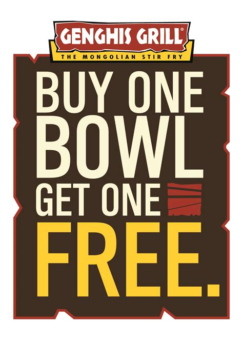 Restaurant Gift Cards Buy One Get One Free - healthy home blog 187 blog archive 187 genghis grill s buy one bowl get one bowl