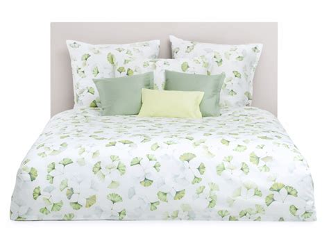 Green And White Bedding white and green gingko leaf bedding schlossberg juna vert