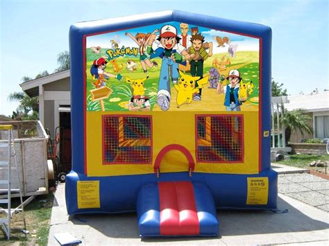 pokemon bounce house customizable modular jumper jumpers all star jumpers orange county jumper rentals