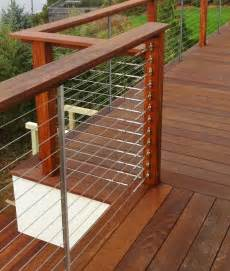 deck railing feeney cable rail for wood deck railing with connect