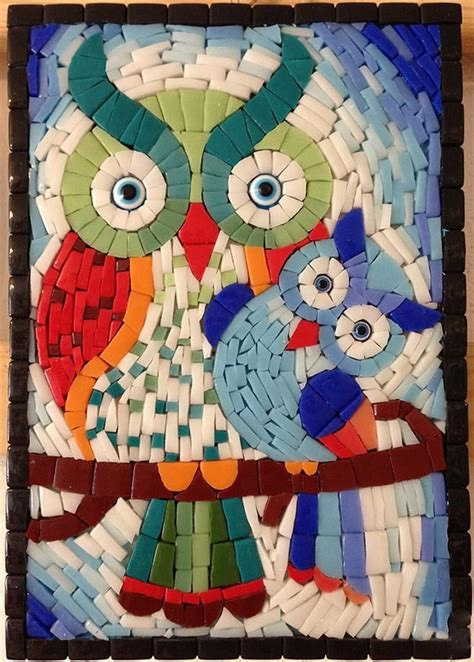 design foto mozaik mozaik baykuşlar arassta com da mosaics pinterest