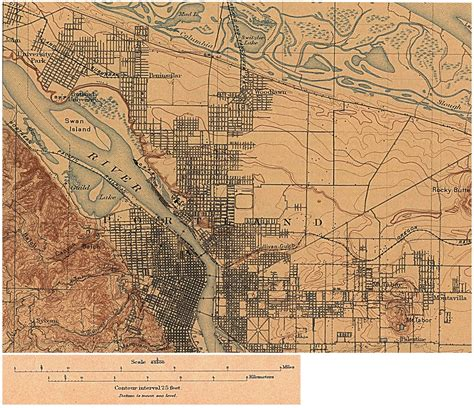 map of oregon 1900 oregon maps perry casta 241 eda map collection ut library