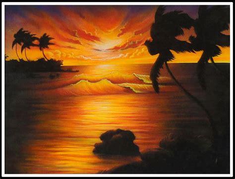 lukisan cantik contoh lukisan senja