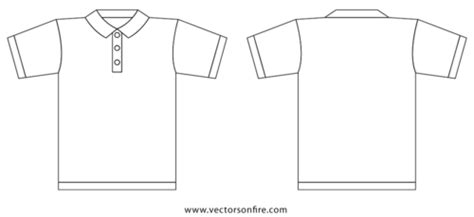 Collar T Shirt Template By Jayhan Vector Vectorhq Com T Shirt Template Png