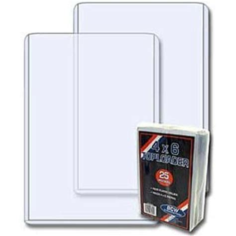 Acrylic Card Holder 4x6 Template by 100 4x6 Post Card Photo Topload Holders Rigid