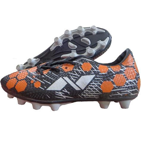 nivea football shoes nivia raptor football stud shoes black and orange buy