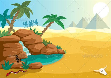 desert oasis graphicriver