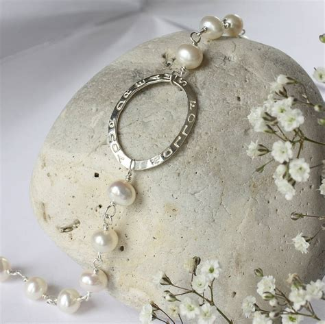 Handmade By Caroline - handmade personalised pearl bracelet by caroline brook