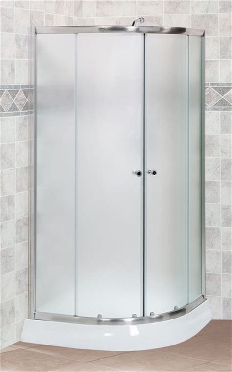 Curved Glass Shower Door Fleurco Banyo Amalfi 40 Quot X 40 Quot Frameless Curved Glass Sliding Shower Doors Modern