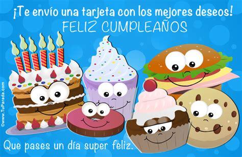 imagenes cumpleaños halloween tarjeta con muffins torta y cosas ricas cumplea 241 os