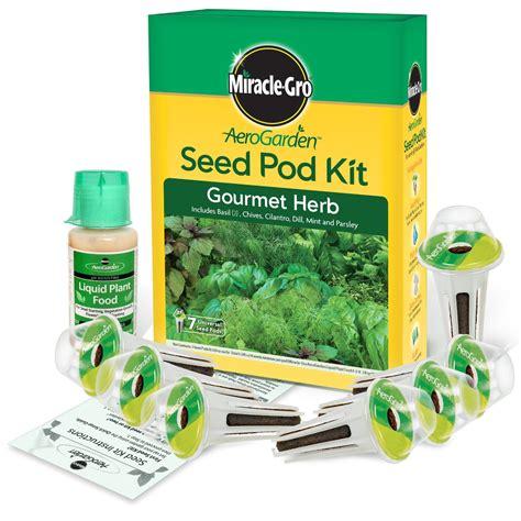 Herb Garden Starter Kit by New Miracle Gro Indoor Aerogarden System Free 7 Pod Herb
