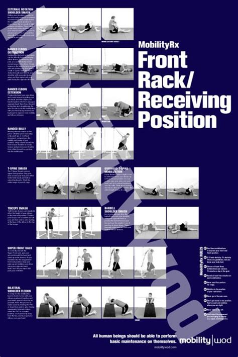 Mobility Wod Front Rack mobilitywod positioning posters mobilitywod optimize